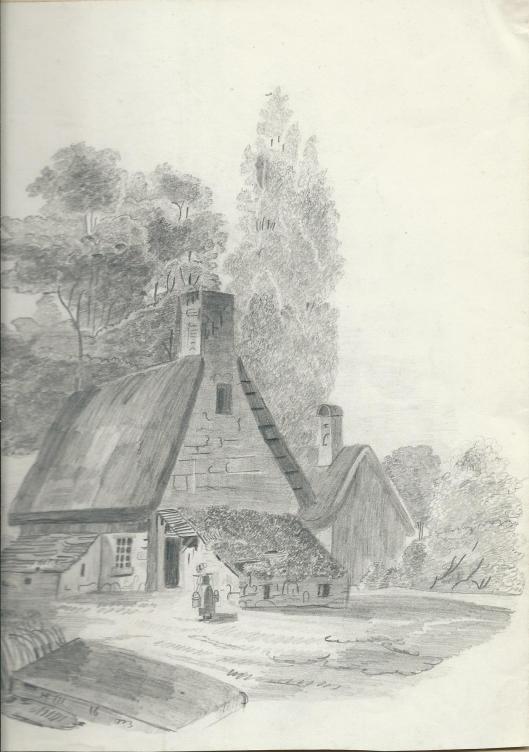 Tekening van Hester van Wickevoort Crommelin, 10 juni 1848.