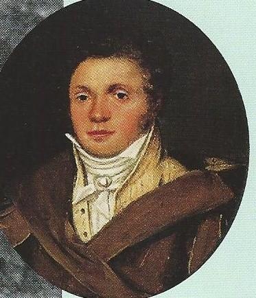 Geschilderd miniatuurportret van tuinarchitect Jan David Zocher door Wouter Mol uit omstreeks 1830.