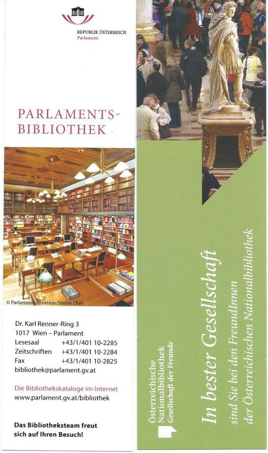 Boekenleggers van de Parlamentsbibliotheek in Wenen en de Oesterreichische Nationalbibliothek