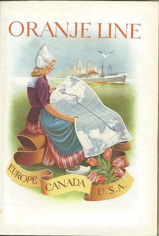 Illustratie 'Oranje Linie' uit: officiële catalogus/gids van Flora 1953 Heemstede