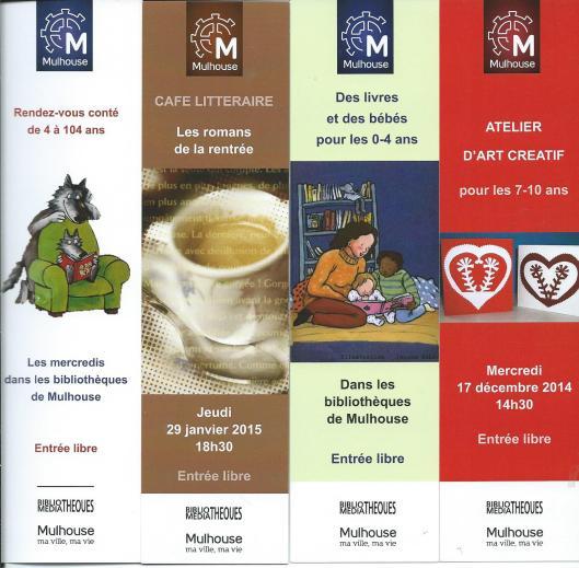 Boekenleggers van de Biblio/médiathèques de Mulhouse