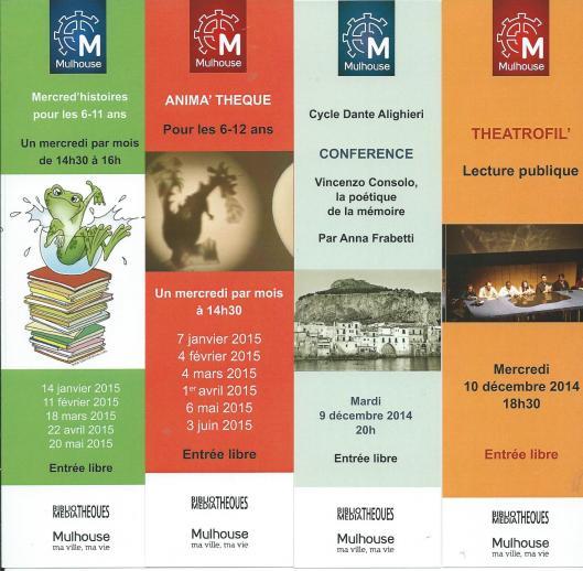 Bladwijzers van de biblio/médiathèques de Mulhouse, France