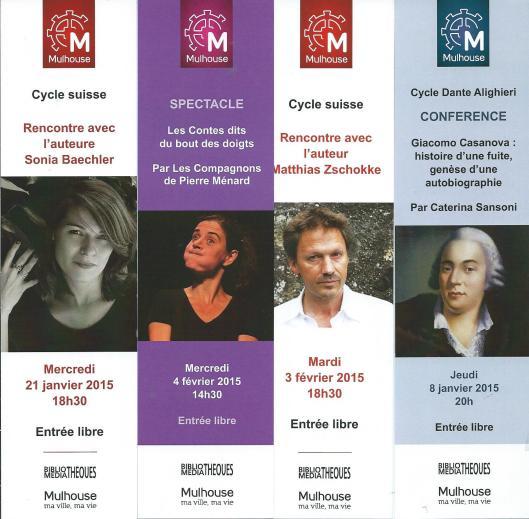 Marques pages van biblio/médiathèques Mulhouse, France