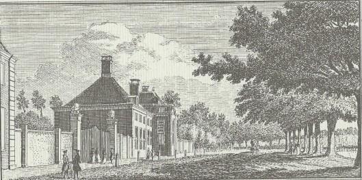 Meer en Berg in Heestede op een gravure van Hendrik Spilman uit 1762.