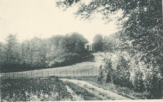 DE koepel van de Hartekamp op Hagenduin, Overplaats Heemstede (lichtdruk van H.Kleinmann & Co, Haarlem, 1901)