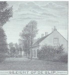Gezicht op de Glip.Afdruk van een houtgravure uit 1910.