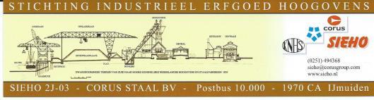Boekenlegger stichting Industrieel Erfgoed Hoogovens