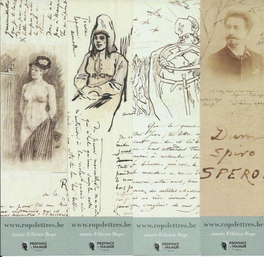 Boekenleggers van Musée Félicien Rops (provincie Namur, Belgique)