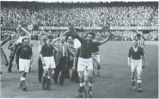 Op 18 juli 1953 speelden RCH en Eindhoven een zinderende finale in de Rotterdamse Kuip en werd RCH landskampioen in de eerste klase van de KNVB. In Heemstedevondt een enorme huldiging plaats. Een jaar later zou Louk Biesbrouck, sterspeler van RCH, het bondselftal aanvoeren tijdens een toiurnee in de West (Paemaribo en Willemstad). In datzelfde jaar, 1954, degradeerde RCH, maar bleef nog tot 1971 betaald voetbal spelen.