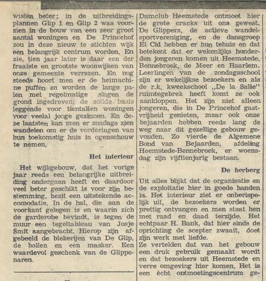 Vervolg van: Tien jaar De Princehof. Uit: Heemsteedse Courant, 24 juni 1965.