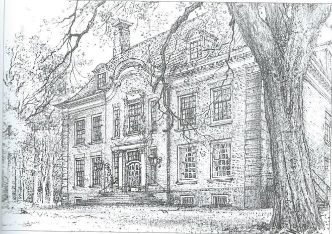Vinkenduin; tekening door Chris Schut, 1990