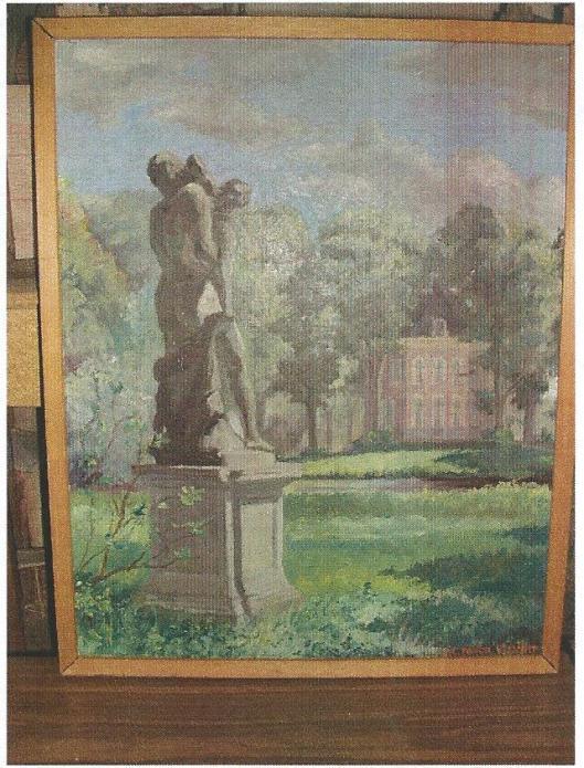 Huis te Vogelenzang; schilderij door G.C.Jongh Visscher