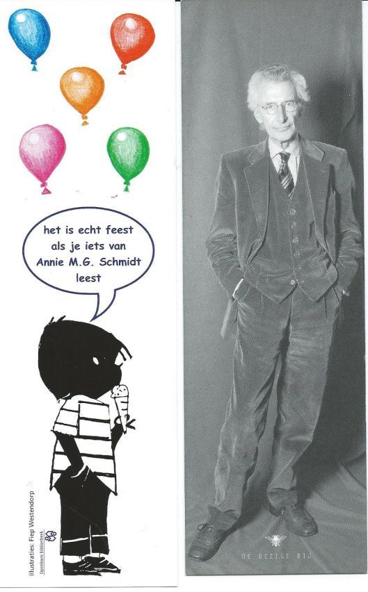 Boekenleggers: Annie M.G.Schmidt/Fiep Westerdorp en Harry Mulisch