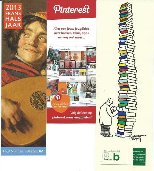 Boekenleggers: Frans Halsjaar (Frans Halsmuseum) Haarlem, Pinterest en Boekhandel Blokker in Heemstede