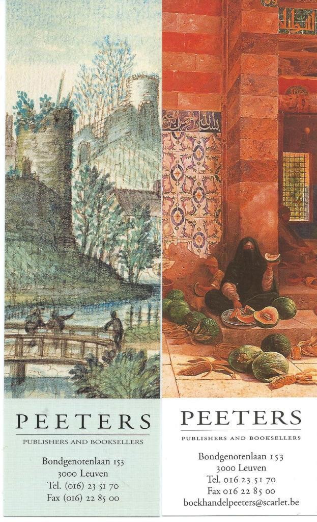 2 boekenleggers uit een serie van Peeters publishers and booksellers in Leuven