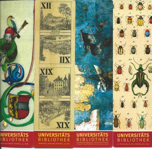 4 boekenleggers van Universitätsbibliothek Salzburg