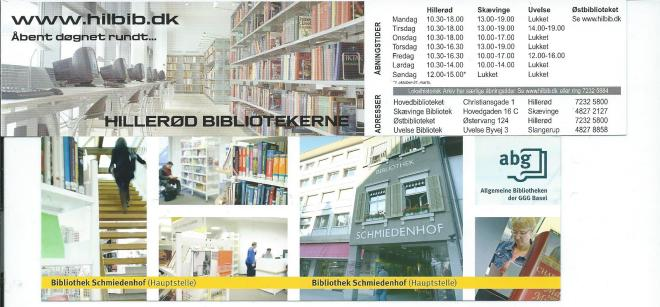 Boekenleggers van bibliotheek in Hillerod, Denemarken en Allgemeine Bibliotheken Basel (Schweiz)
