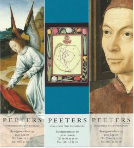 3 boekenleggers van Peeters booksellers - publishers. Leuven, Begië