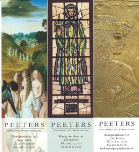 3 bookmaeks Peeters booksellers and publishers. Leuven, België