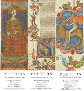 3 boekenleggers. Peeters Leuven, Anjou Bible.