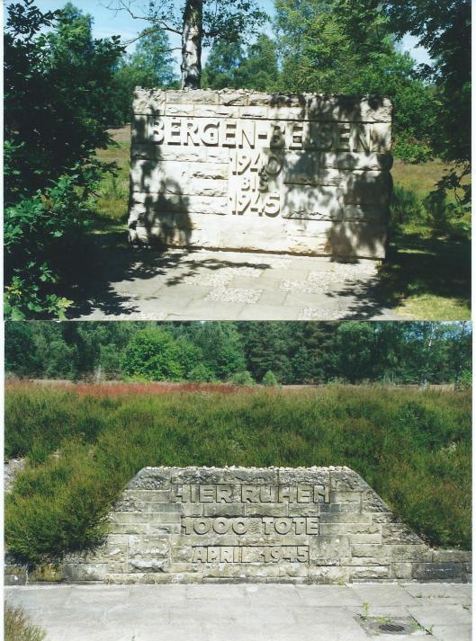 Herdenkingsmonument vm. concentratiekamp Bergen-Belsen (foto's van D.A.C.van den Hoorn, juni 1999 - de auteur is in 2013 in Hoog Soeren overleden]