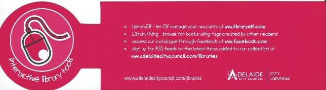 Adelaide City Council: City Libraries, Australia.