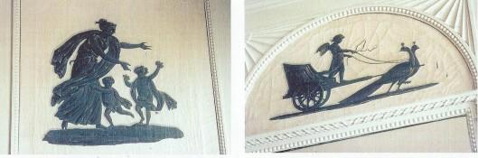 Silhouetten  in de grote zaal van Berkeneode