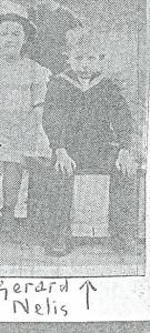 Gerard Nelis in 1919 als leerling van de 'Roodnatschool' in de Cruquiusstraat Haaelem