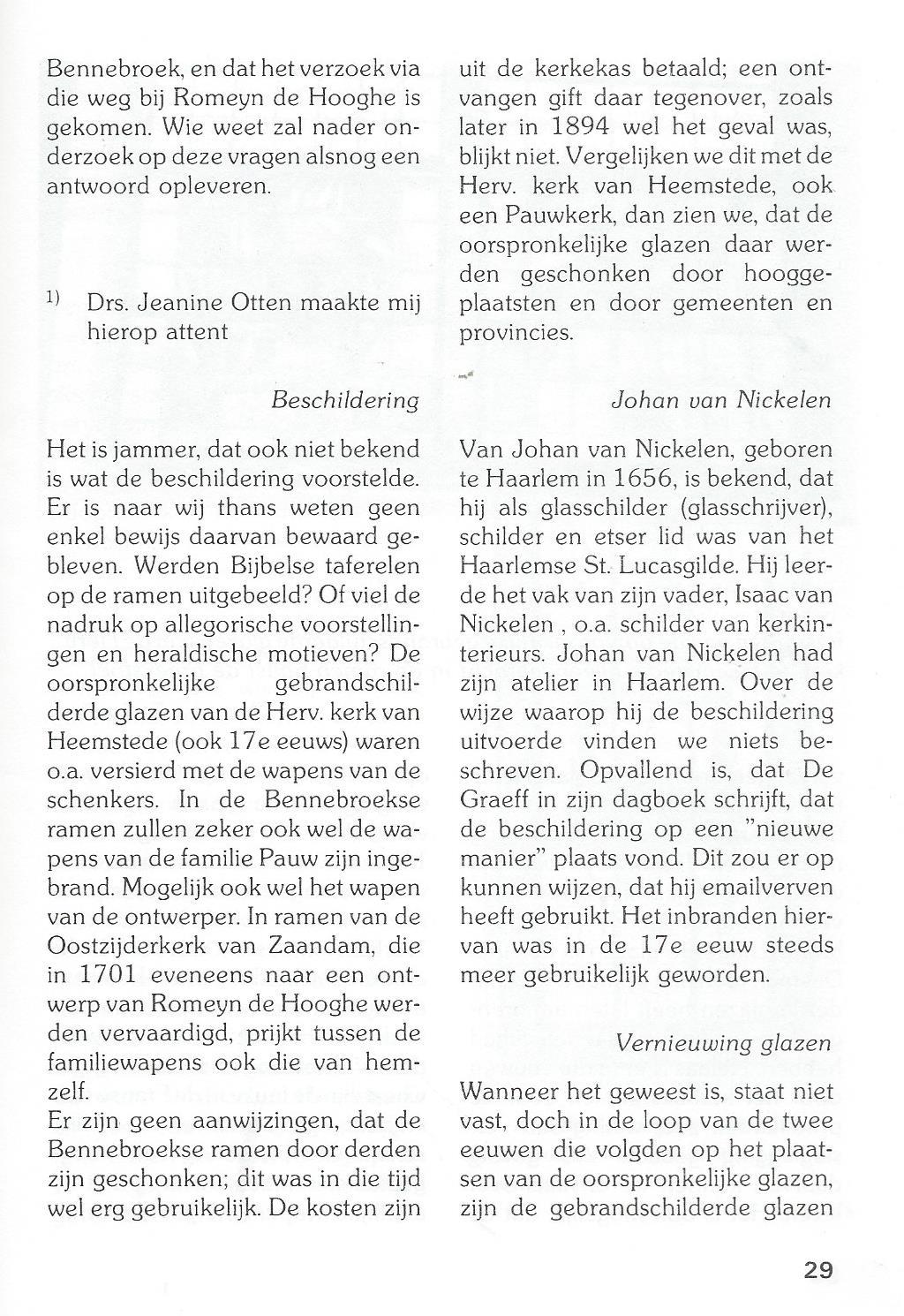 Vervolg kerkramen Bennebroek (2)