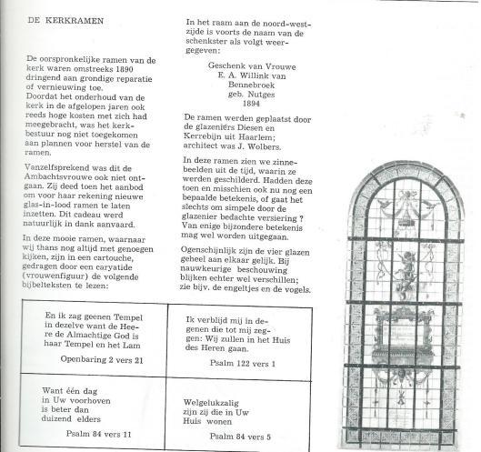 Kerkramen Kerk Bennebroek; door M.Verkaik