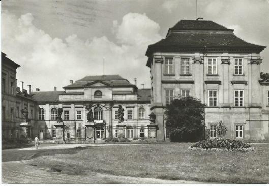 Ansichtkaart van kasteel in Duchcov