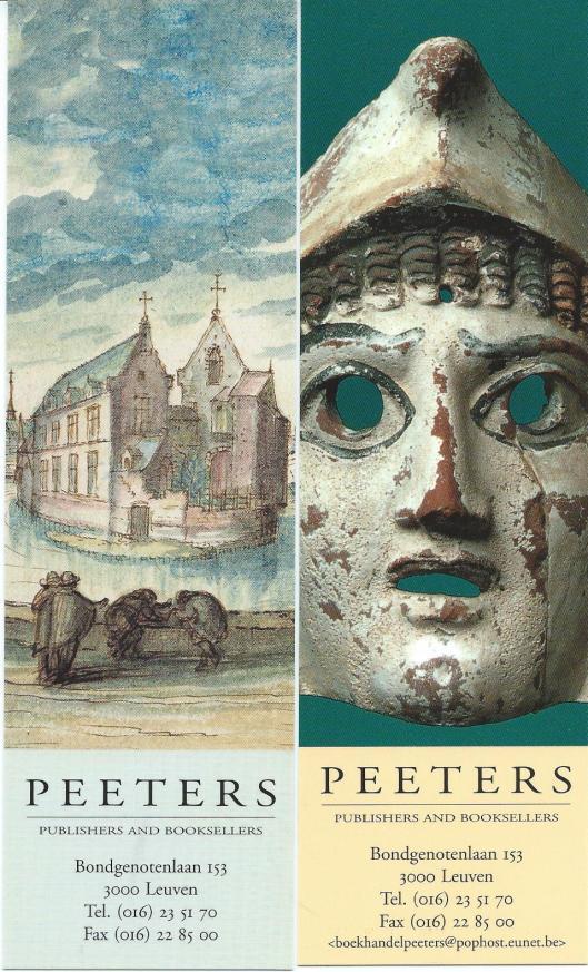 2 boekenleggers uitgegeven door Peeters, Leuven