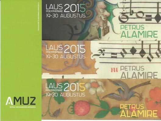 Boekenleggers van Muziek Festival van Vlaanderen in Antwerpen 2015