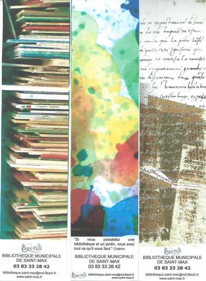 Boekenleggers van: Bibliothèque Municipale de Saint-Max, Frankrijk
