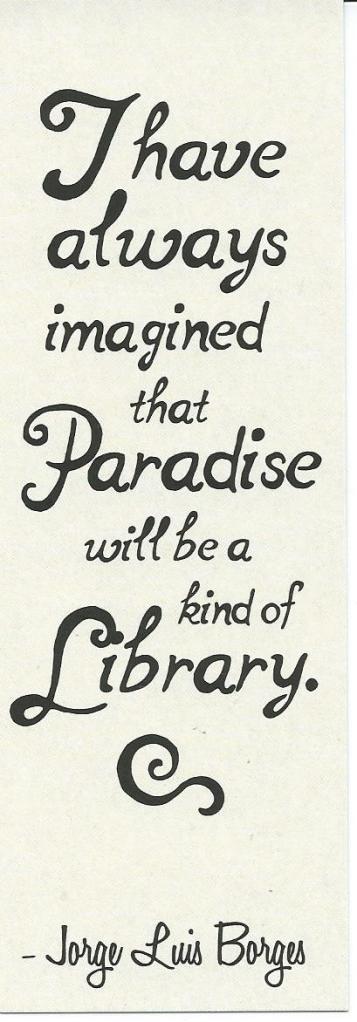 Boekenlegger met citaat van Luis Borges (Blossom Books)