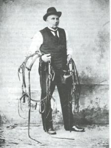 Portret van pikeur Jan Koster die na 1911 naar Denemarken verhuisde en aldaar februari 1919 op ongeveer 80-jarige leeftijd is overleden.