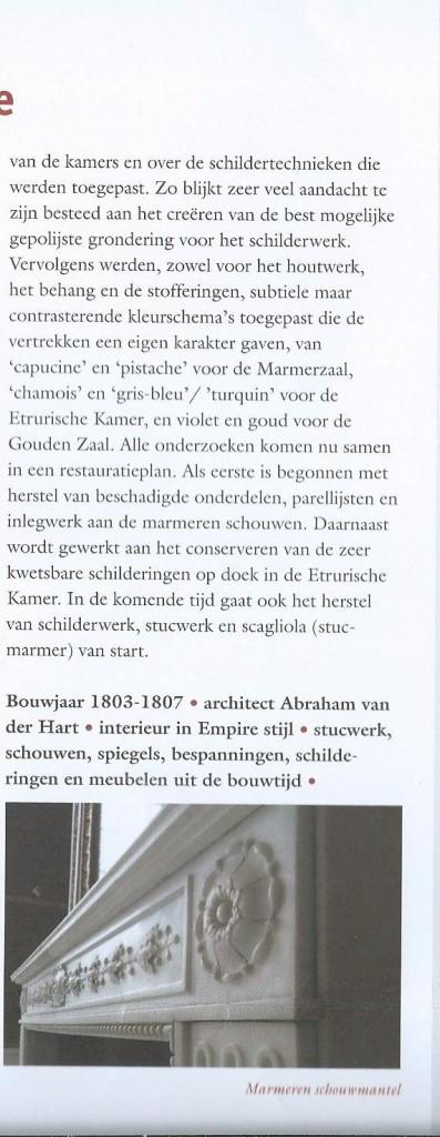 Vervolg bericht restauratie huis Barnaart, uit bericht vereniging Hendrik de Keyser, april 2015