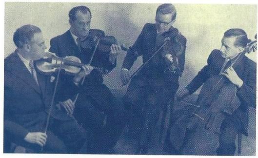 Het Hekster Kwartet was een graag geziene gast bij de Heemsteedse Kunstkring in het Minerva theater