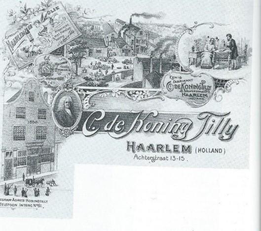 Briefpapier van de firma C.de Koning Tilly te Haarlem, circa 1900
