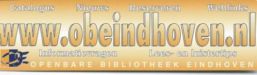 Boekenlegger openbare bibliotheek Eindhoven