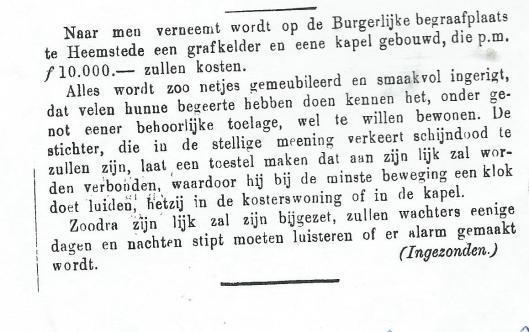 Uit: Weekblad van Haarlemmermeer, 8 juni 1883.