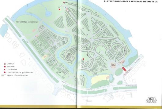 Plattegrond begraafplaats Heemstede