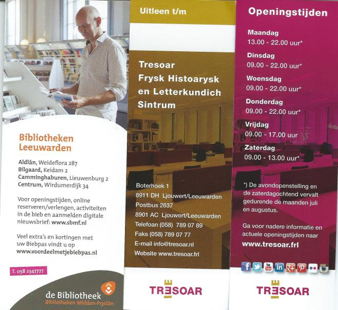 Boekenleggers, links: Bibliotheek Leeuwarden, midden en rechts: Tresoar, archief Leeuwarden