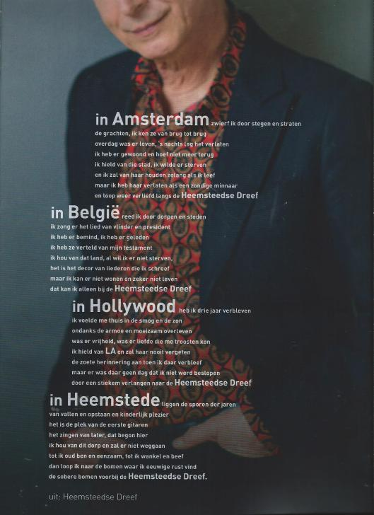Boudewijn de Groot en zijn geliefde Heemstede. Uit: HIK = Heemstede in Kaart, nummer 1, augustus Mediadam, pagina's 6-7