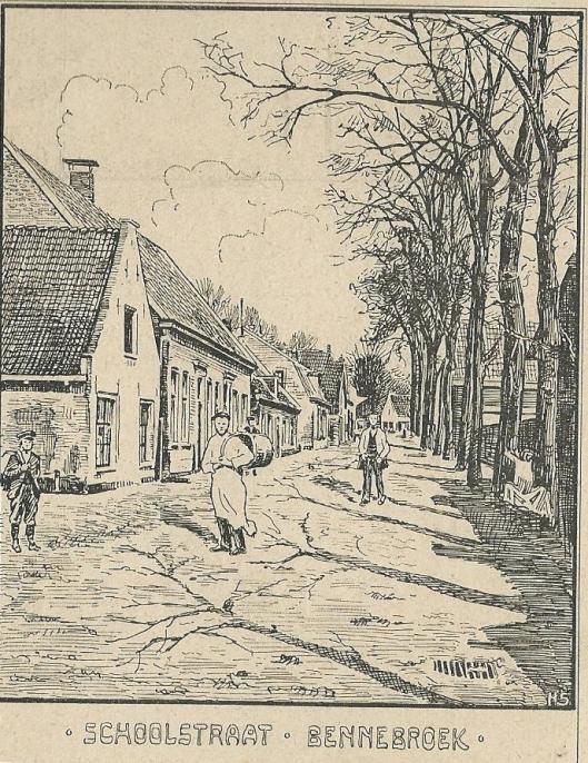 Schoolstraat Bennebroek (Zondagsblad, 26 0ktober 1903)