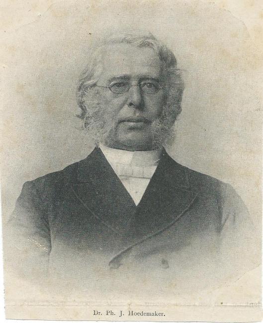 Portret van dr.P.J.Hoedemaker. Overleden en begraven in Heemstede