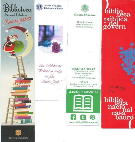 Boekenleggers van (Nationale) Bibliotheek Andorra