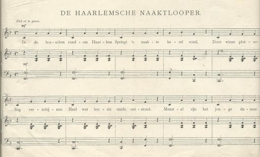 De Haarlemsche naaktloper; door Koos Speenhof - los blad gevonden in boek