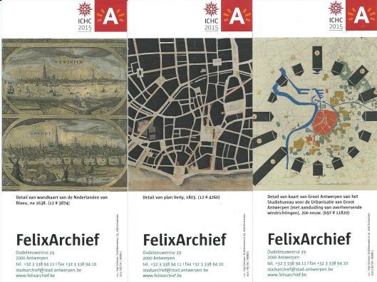 Boekenleggers van Felix stadsarchief Antwerpen