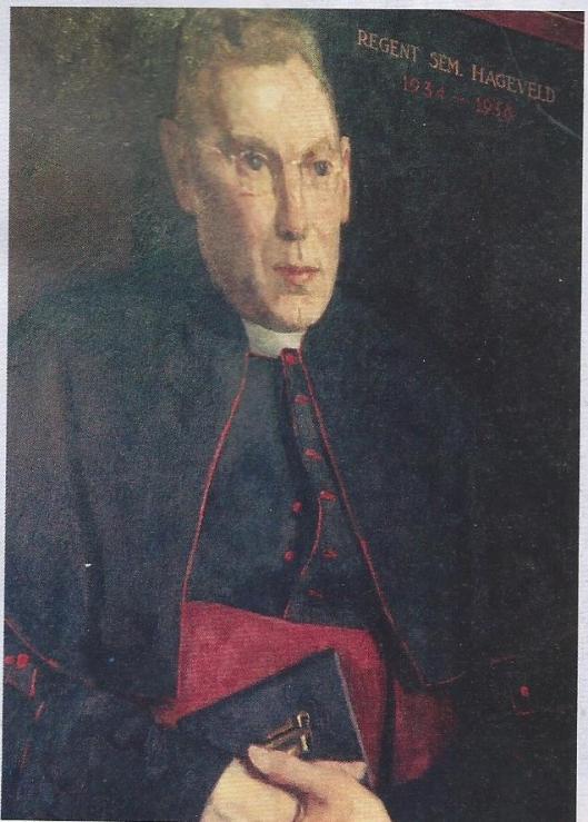 Geschilderd portret can oud subregent en regent N.L.A.Ammerlaan, dat vroeger in de Paarse Zaal hing.